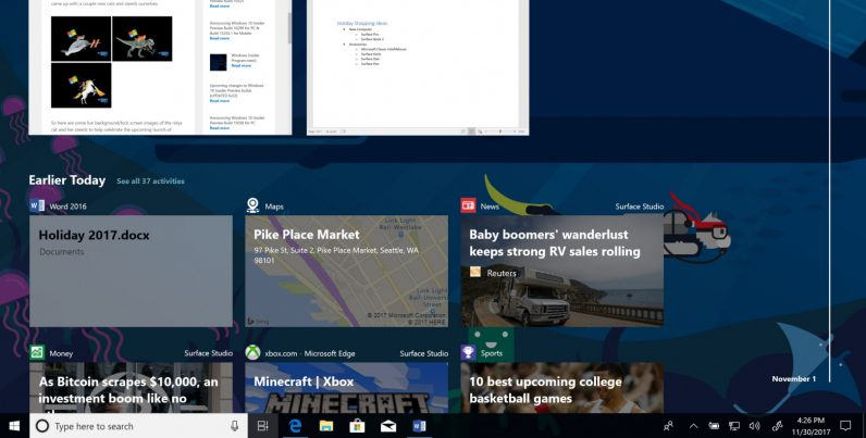 You can try Windows 10's game-changing new Timeline feature now