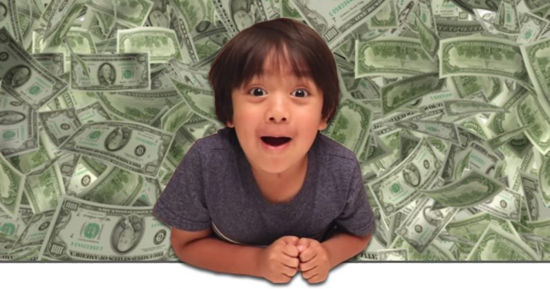 This 6-year-old made $11M on YouTube last year. What are you doing with your life?