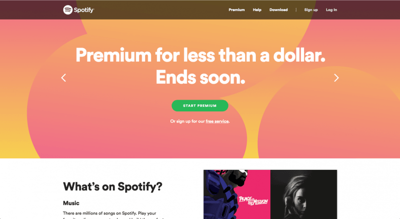 It Features A Homepage Color Scheme Of Pink Gold And Orange Normally These Three Colors Together Would Hurt My Eyes But Spotify Made Work