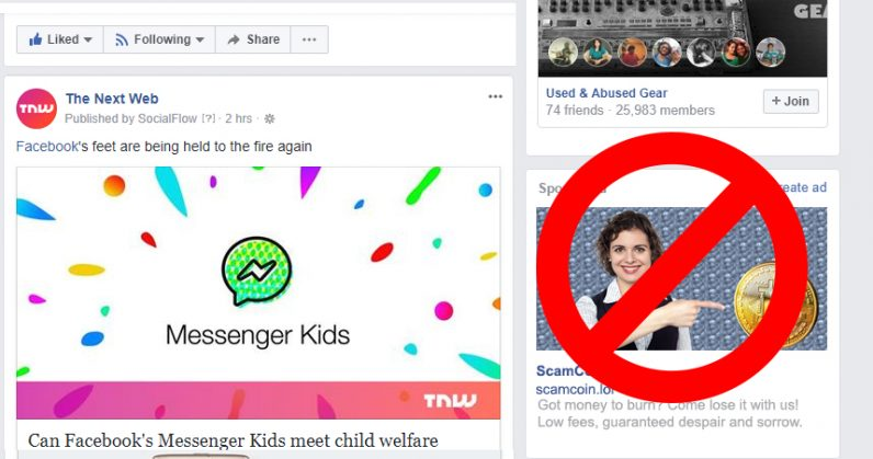 Facebook bans cryptocurrency ads because they're mostly scams