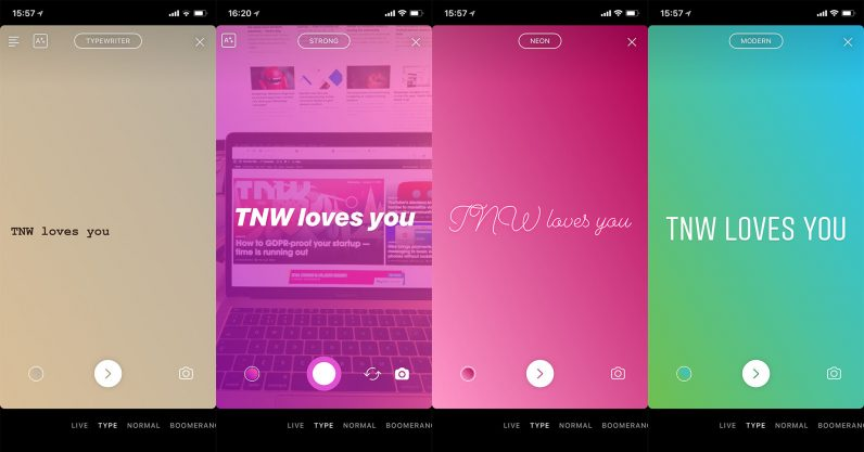 Instagram's new text-only 'Type' feature for Stories is rolling out to everyone