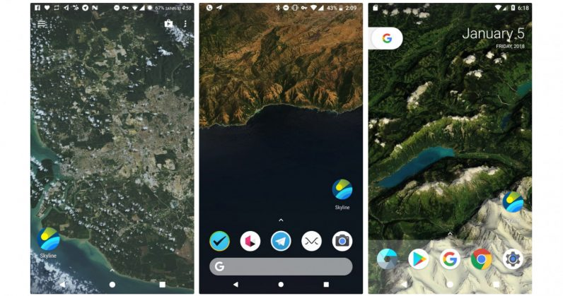 This Android Live Wallpaper Brings You A Birds Eye View Of