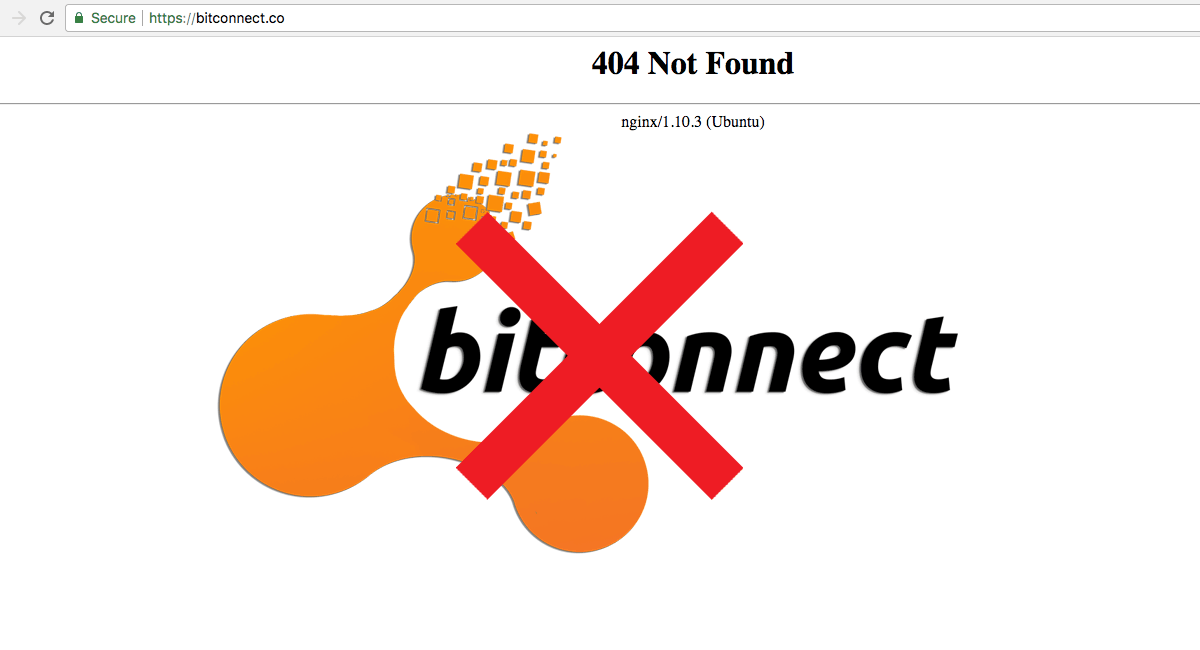 BitConnect is shutting down its lending and exchange platform
