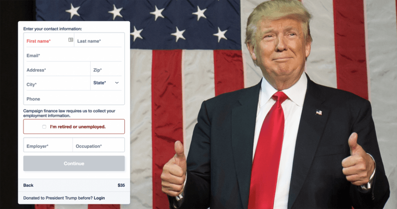 Trump's State of the Union Address is now a quasi-ethical online fundraiser