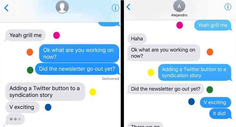 Yes, Apple's iMessage is totally screwing up the order of