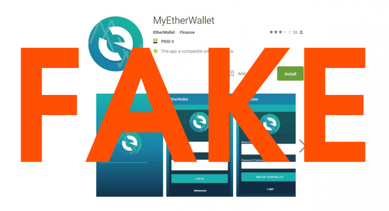 Ethereum Thieves Targeting Android Users With Fake MyEtherWallet Apps