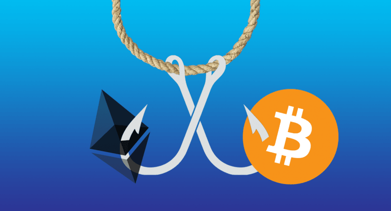 phishing, scam, cryptocurrency, bitcoin, ethereum