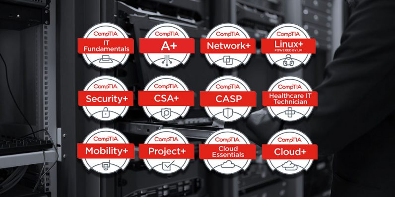 Load up on CompTIA certification training for less than $8 per course