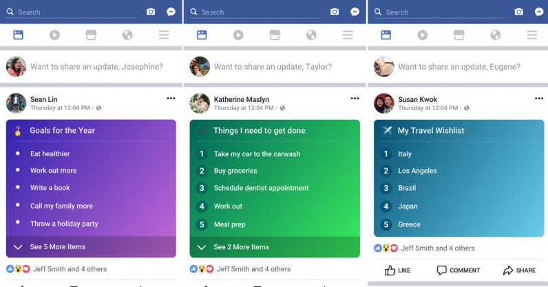 Facebook's colorful new feature makes public to-do lists a 'thing'