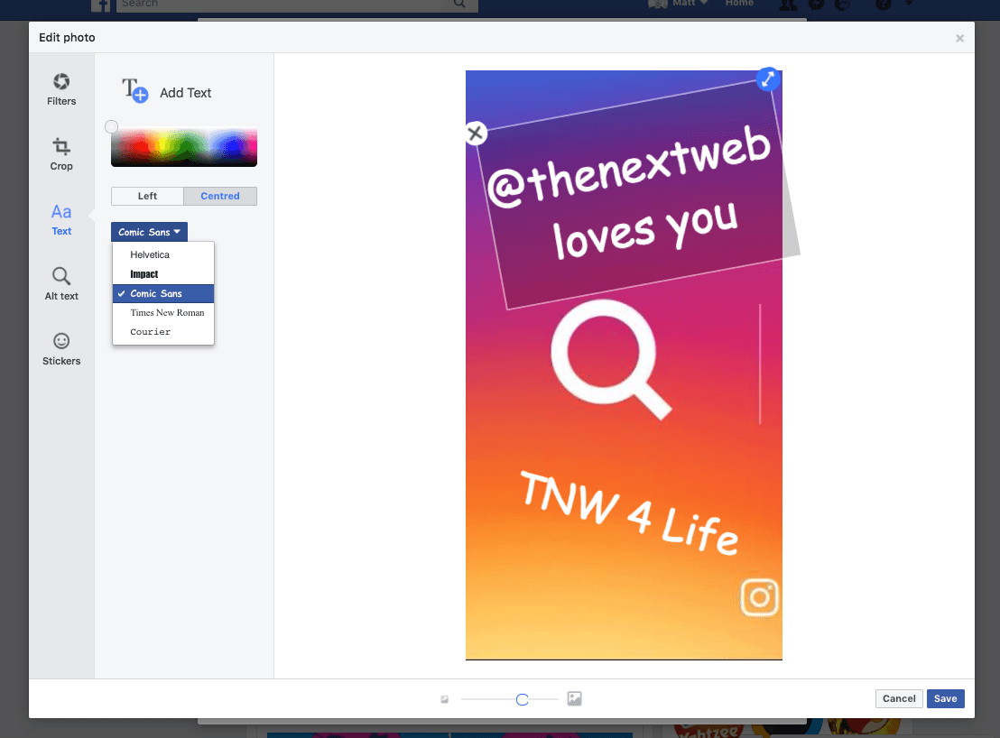 Facebook brings Stories photo edits to desktop    for the 3