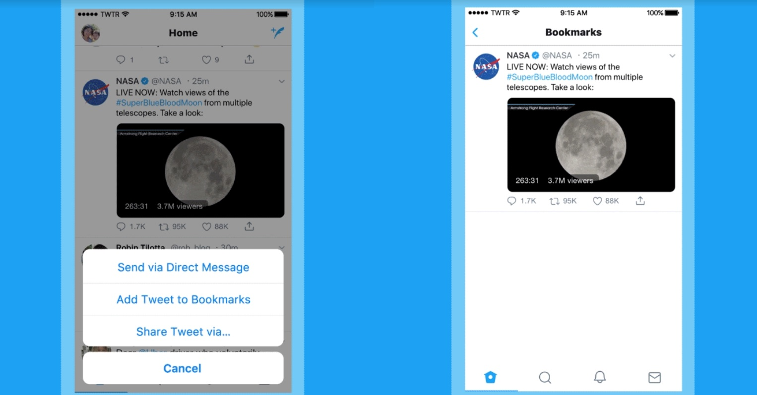 Twitter adds new features to bookmark and share your favorite tweets