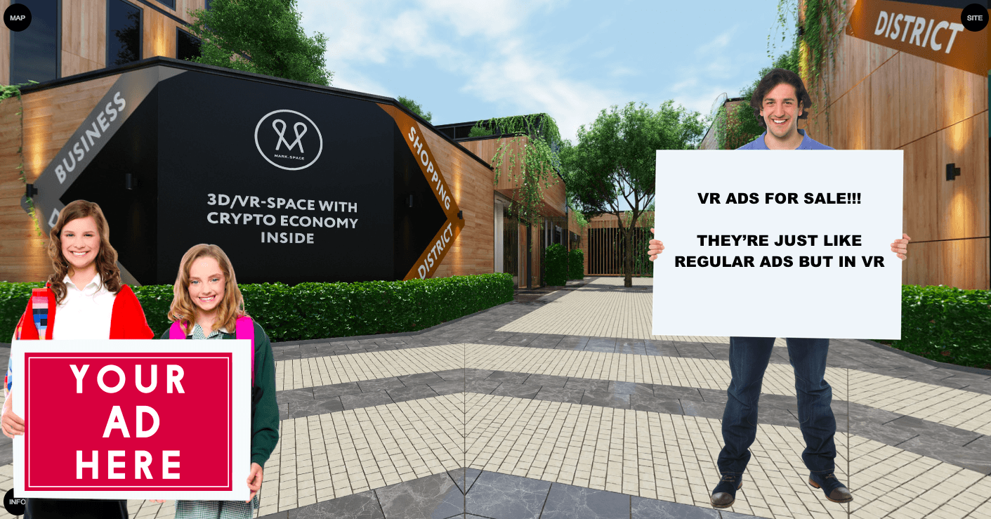 This blockchain-based platform creates entire cities in virtual reality