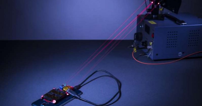 Researchers are wirelessly charging devices by blasting them with lasers