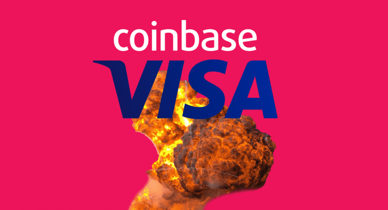 visa, coinbase, overcharging, cryptocurrency