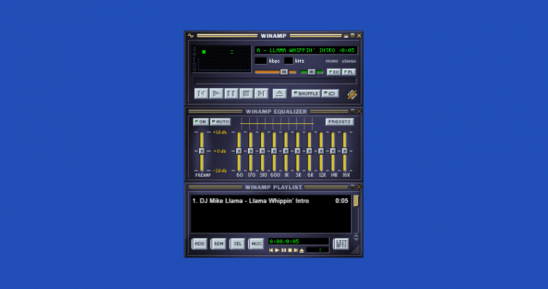 Bring on the nostalgia with this in-browser Winamp emulator