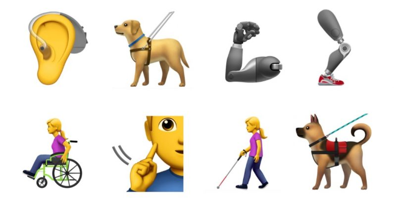 Apple proposes new accessibility emoji to include guide dogs and prosthetic limbs