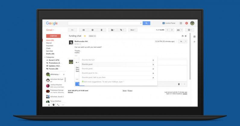 EasyEmail uses AI to autosuggest sentences as you write replies in Gmail