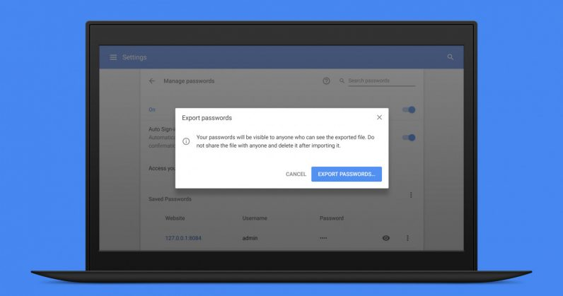 Google Chrome makes it easy to switch to a password manager of your choice