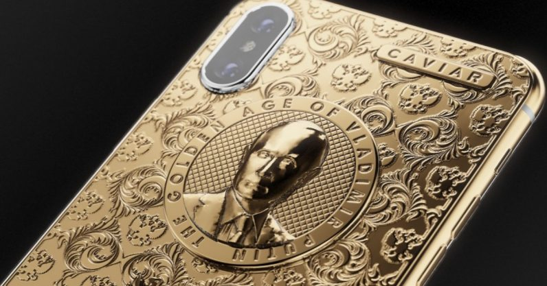 You can now own a golden iPhone X with Putin's face because reasons