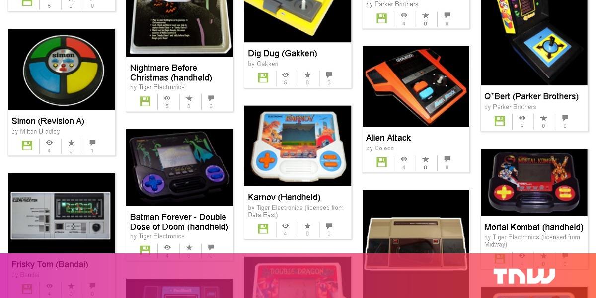Internet Archive emulator bring dozens of handheld games back from obscurity
