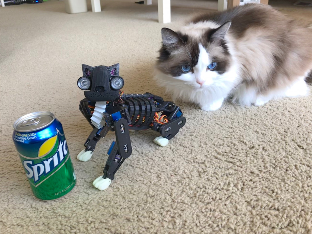 so here s a robotic cat you can 3d print