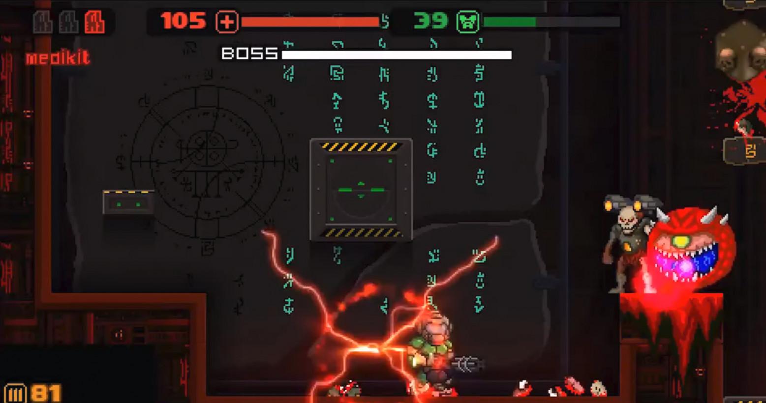 MiniDoom 2 reimagines the classic shooter as a delightfully dark platformer