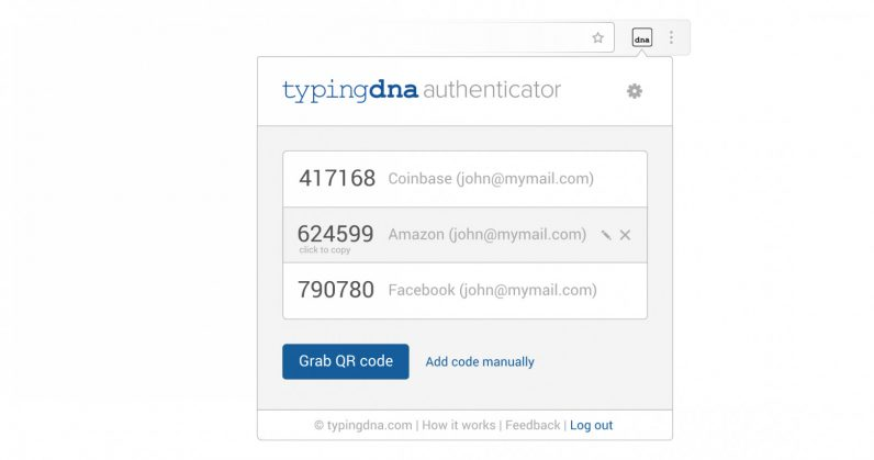This Chrome extension enables two-factor authentication logins by watching you type