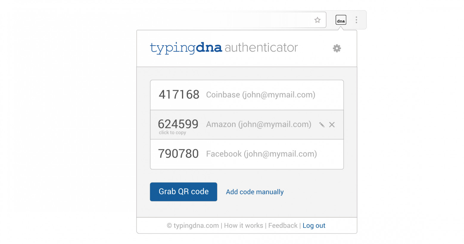 This Chrome extension enables 2FA logins by watching you type