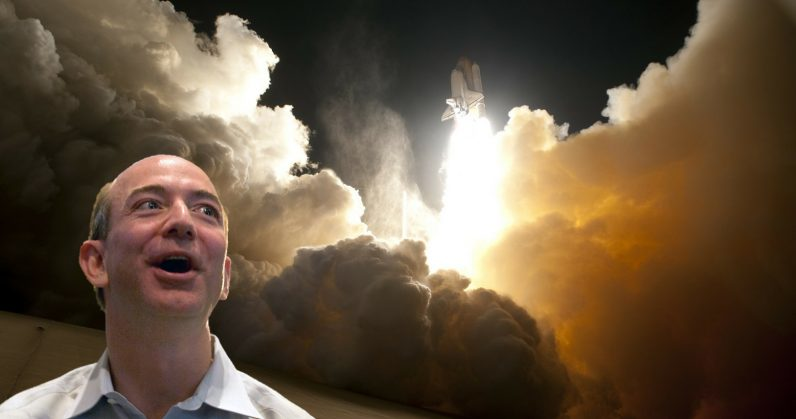 Bezos says he'll spend 'Amazon lottery winnings' on space travel