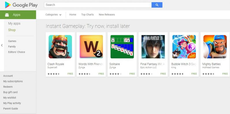 Google Play now lets you try some games without downloading or