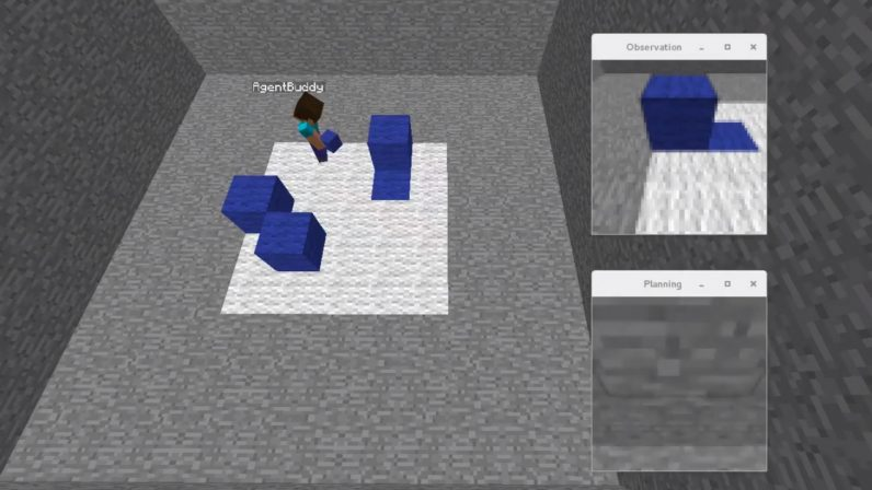 Watch this AI figure out how to place blocks in Minecraft