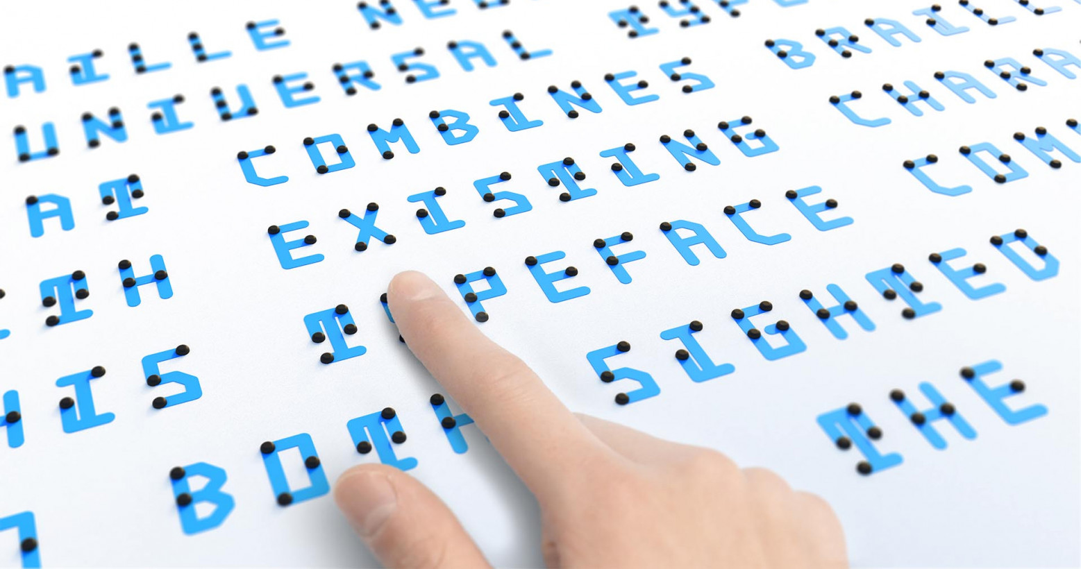 This clever new font combines braille with Latin and Japanese alphabets