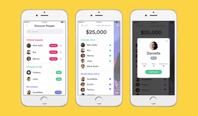 HQ Trivia now lets you play with (and compete against) friends