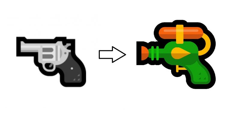 Microsoft joins the water pistol brigade with new emoji
