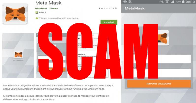 Scam alert: Fake MetaMask app on Google Play is stealing users' ETH