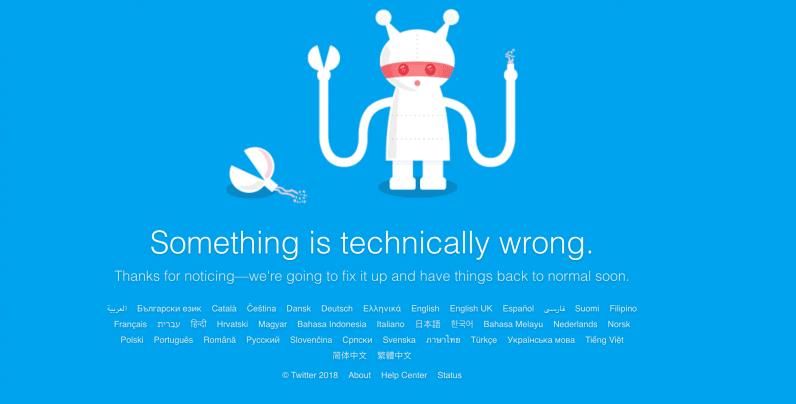 twitter, down