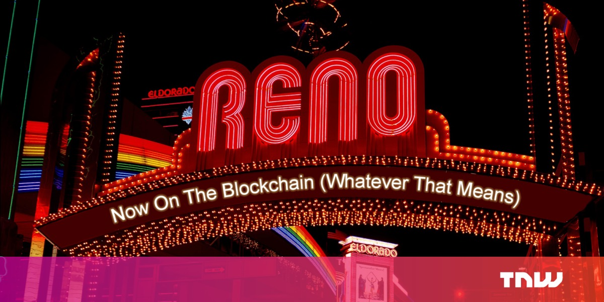 Vintage Marriage Certificate Washoe County Nevada: Reno Aims To Make Marriage Blockchain Official