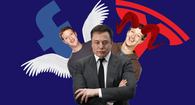 tesla, facebook, spacex, elon musk, zuckerberg