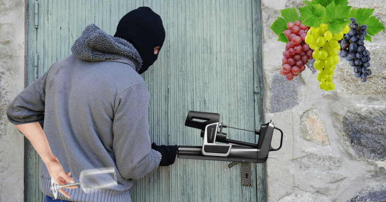 Disclaimer: Don't use this crafty device to steal wine like we did