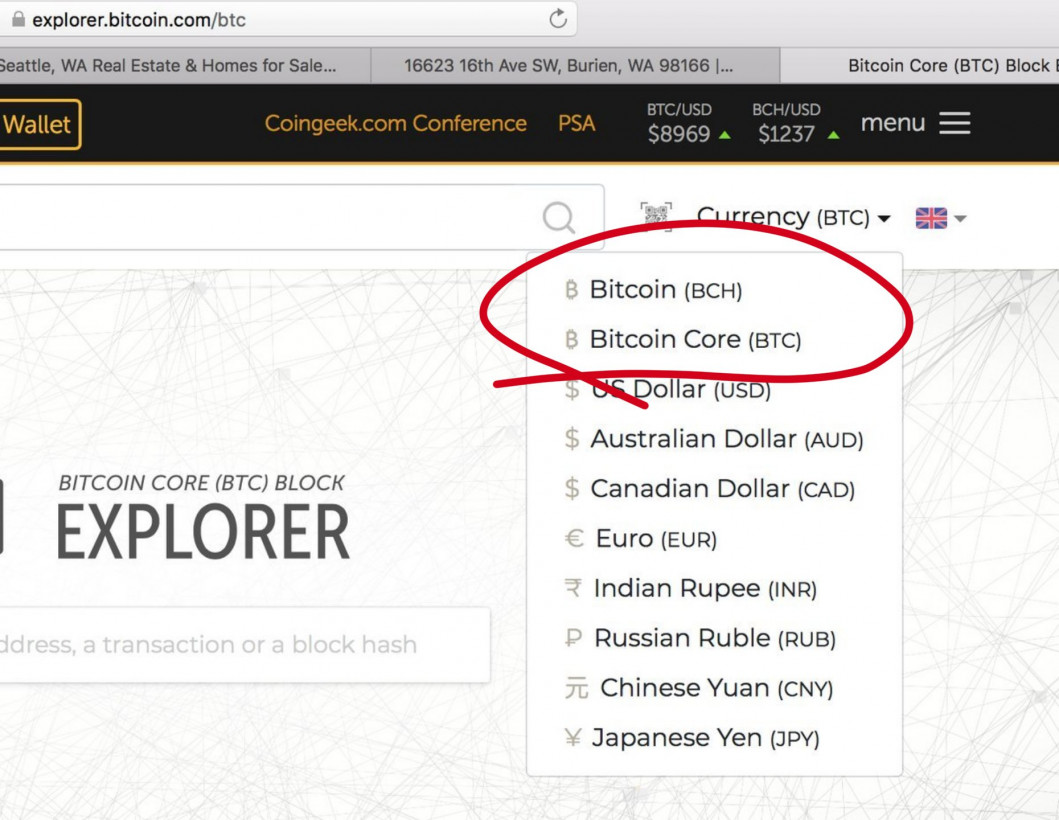 Roger Ver's Bitcoin com no longer labels BCH as the real Bitcoin
