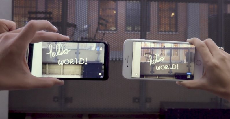 Google's 'Just a Line' lets you doodle in AR with a friend