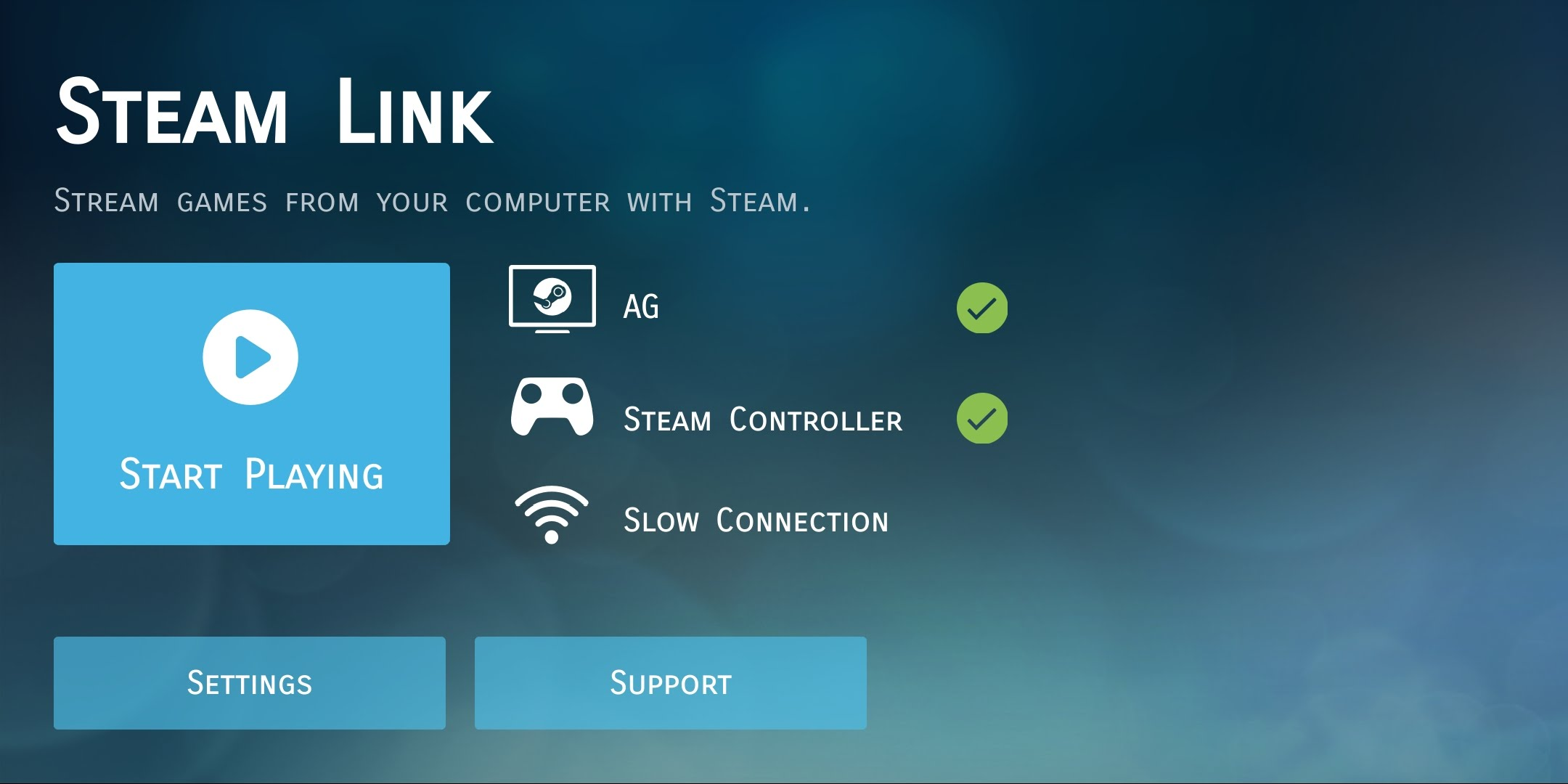 After I Followed All The Setup Instructions In Steam Link App On My Phone Was Good To Go Work Laptop Isnt Great With High End Graphics