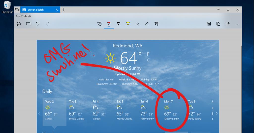 Windows 10 now has a powerful screenshot tool