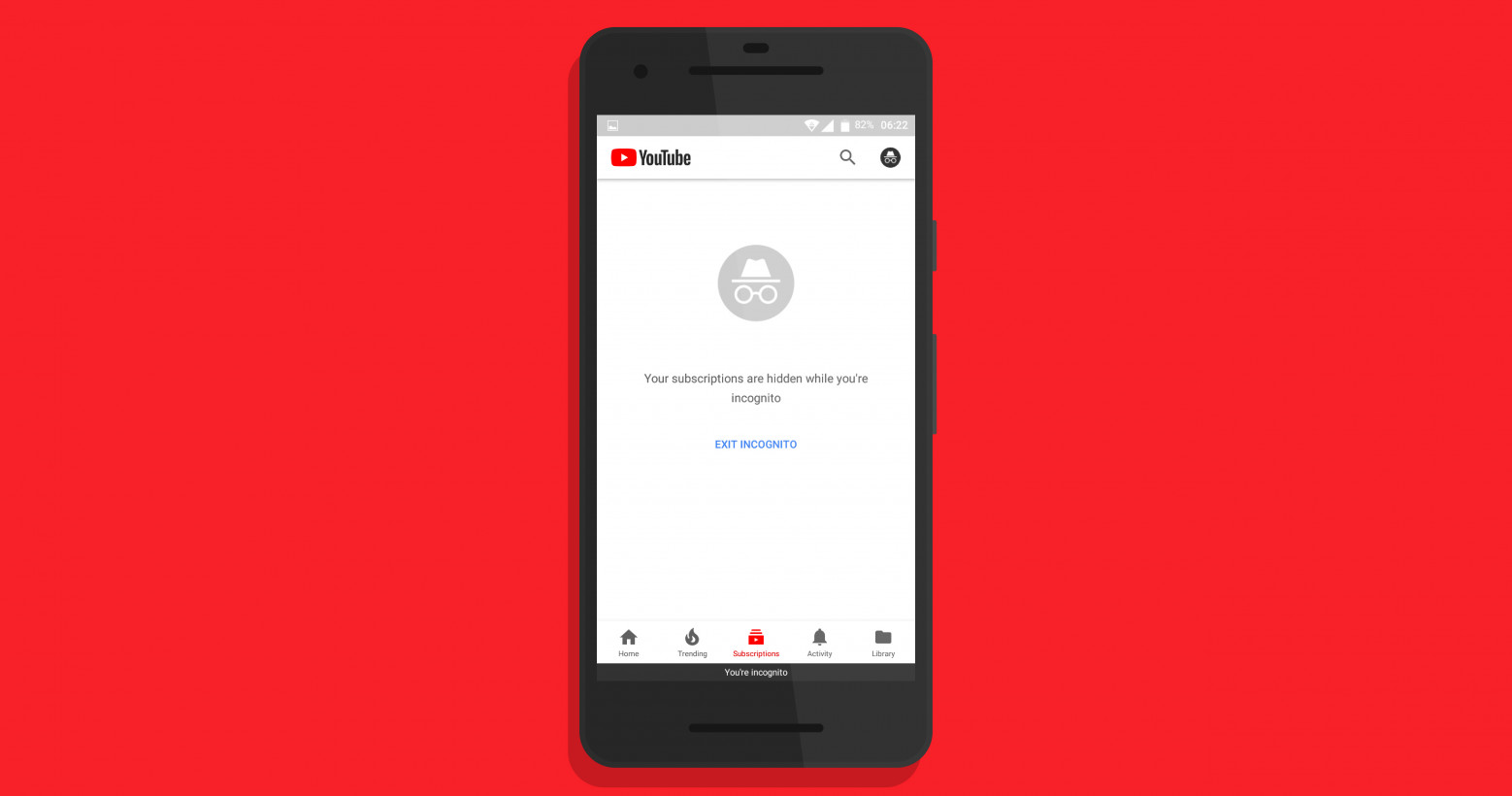 YouTube's mobile incognito mode will soon let you watch weird stuff in secret