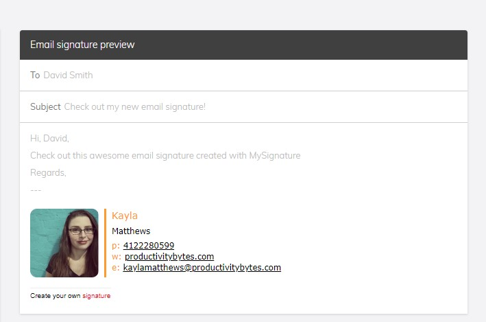 making an email signature