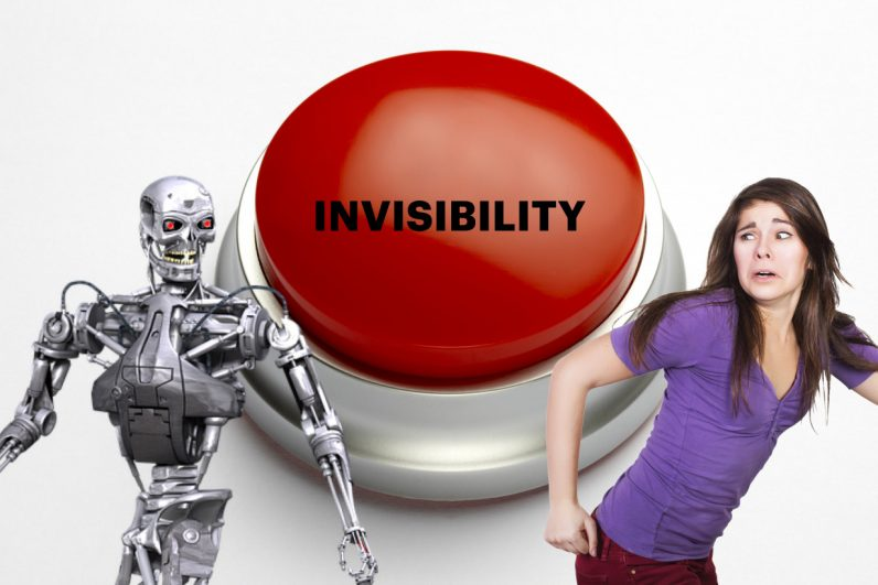 We need a button that makes us 'invisible' to creepy AI