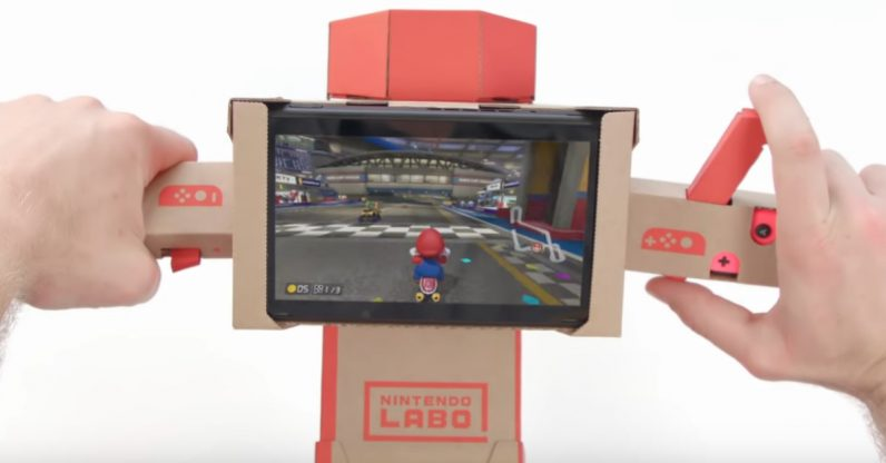Nintendo Labo is now compatible with Mario Kart 8