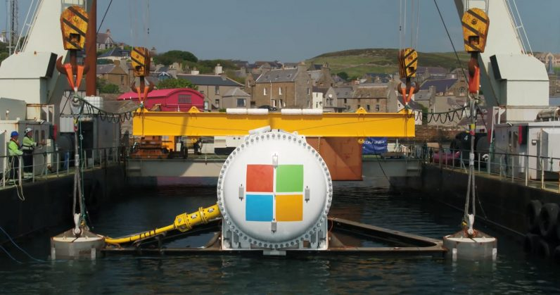 Microsoft's latest data center houses 864 servers underwater