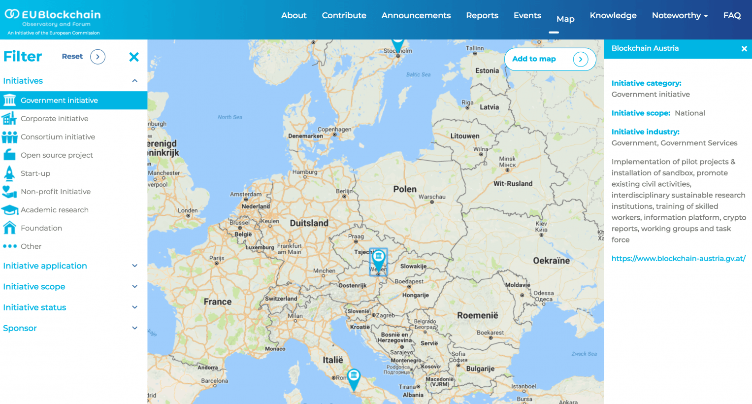 EU's interactive map lets you explore the local cryptocurrency scene