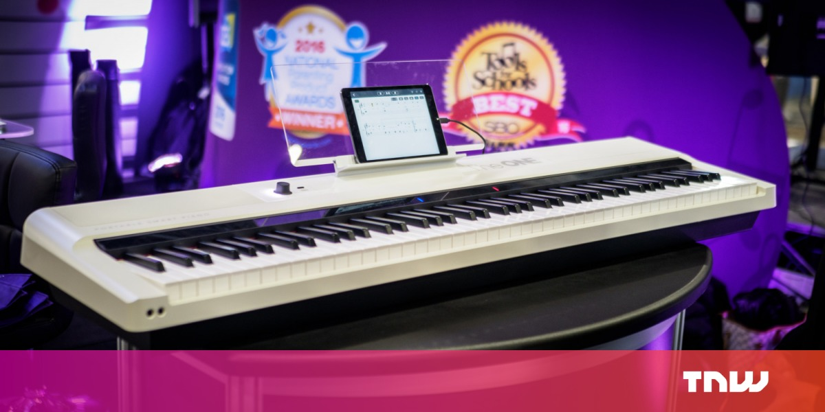 photo image Review: The One Smart Keyboard Pro uses RGB lights to help you play piano